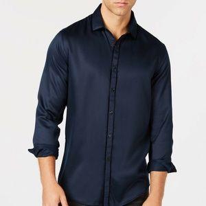 INC Men's Long Sleeve Velvet Shirt Size M